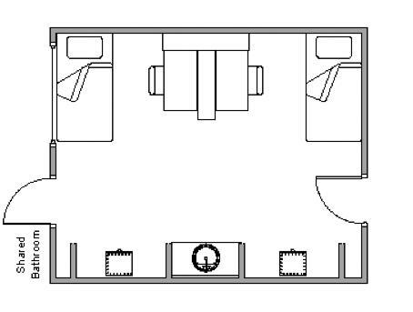 Fort Residence Hall - Floor Plan