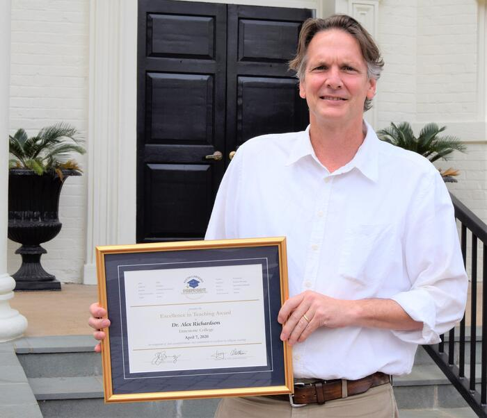 "Dr. Alex Richardson Honored With SCICU ""Excellence In Teaching Award"""