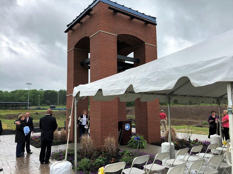 Limestone Community, Cunning Family Dedicate New Victory Bell Tower