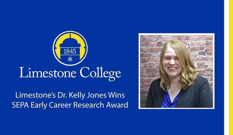 Limestone's Dr. Kelly Jones Wins Early Career Research Award